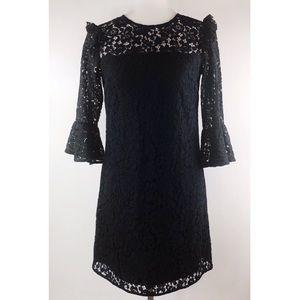 Ann Taylor Black Lace 3/4 Sleeve Midi Dress🆕NWT🆕